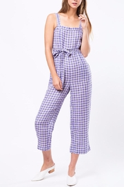 Movint Checkered Jumpsuit With Belt - Product Mini Image