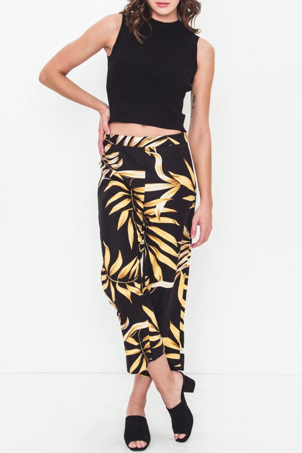 Movint Linen Printed Cropped Pants - Main Image
