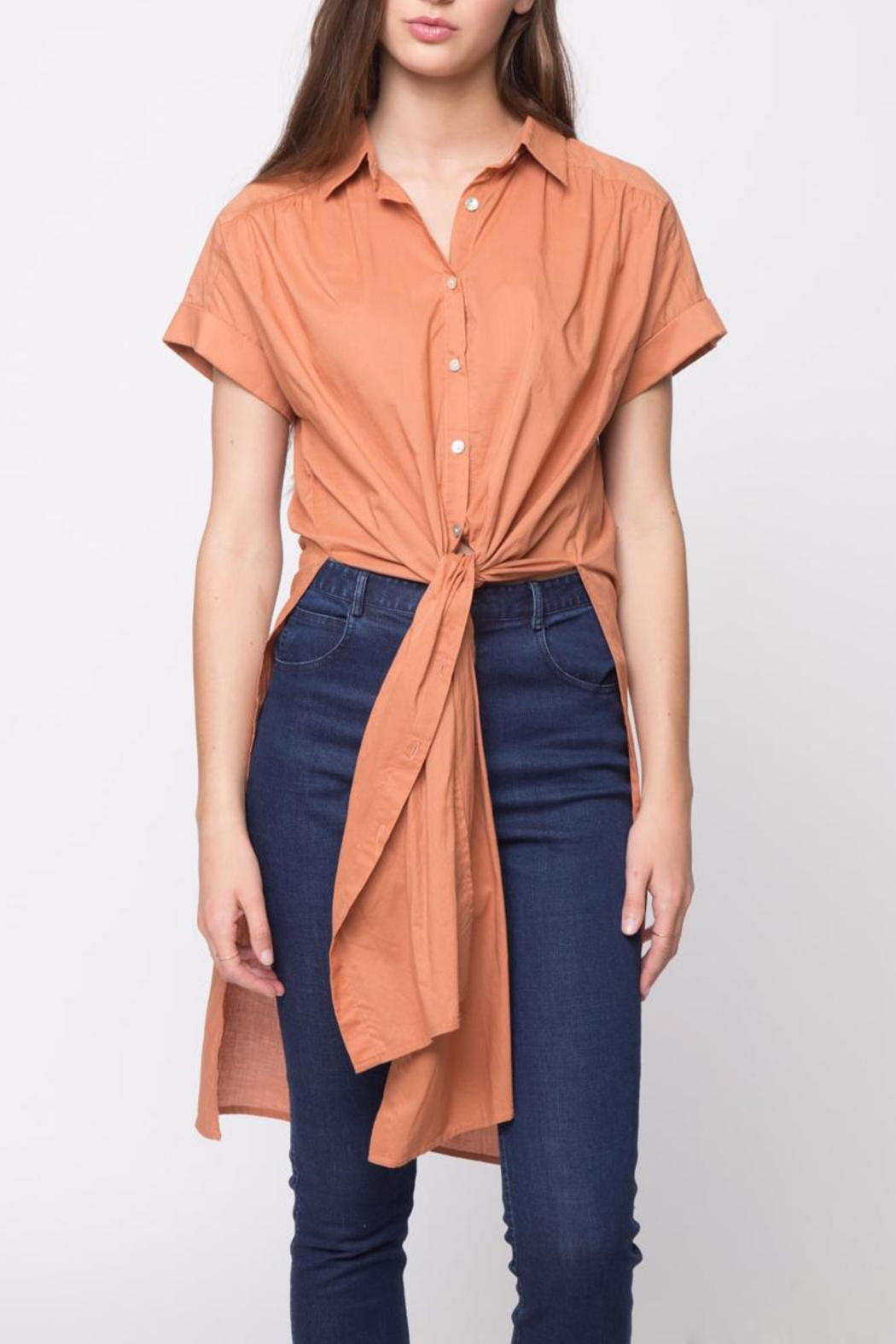 Movint Side Slit Button Down - Front Cropped Image