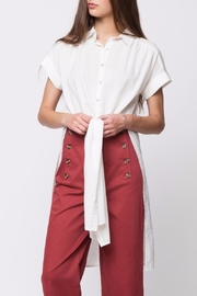 Movint Side Slit Button Down - Side cropped