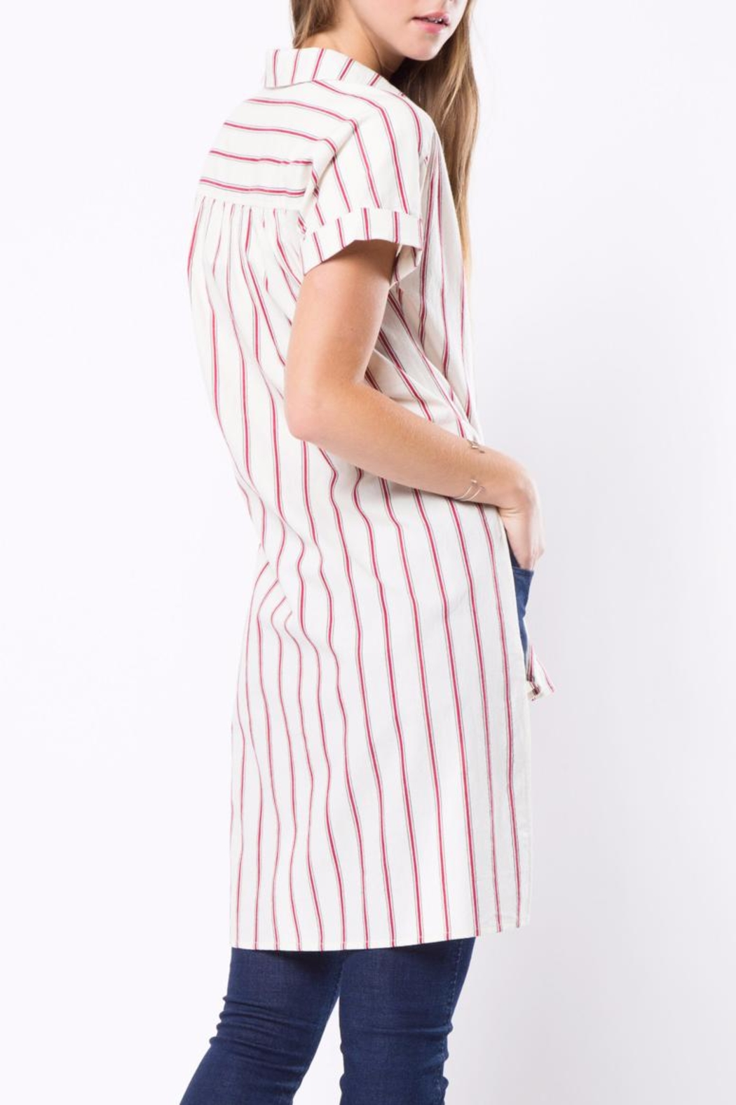 Movint Long Striped Shirt - Front Full Image