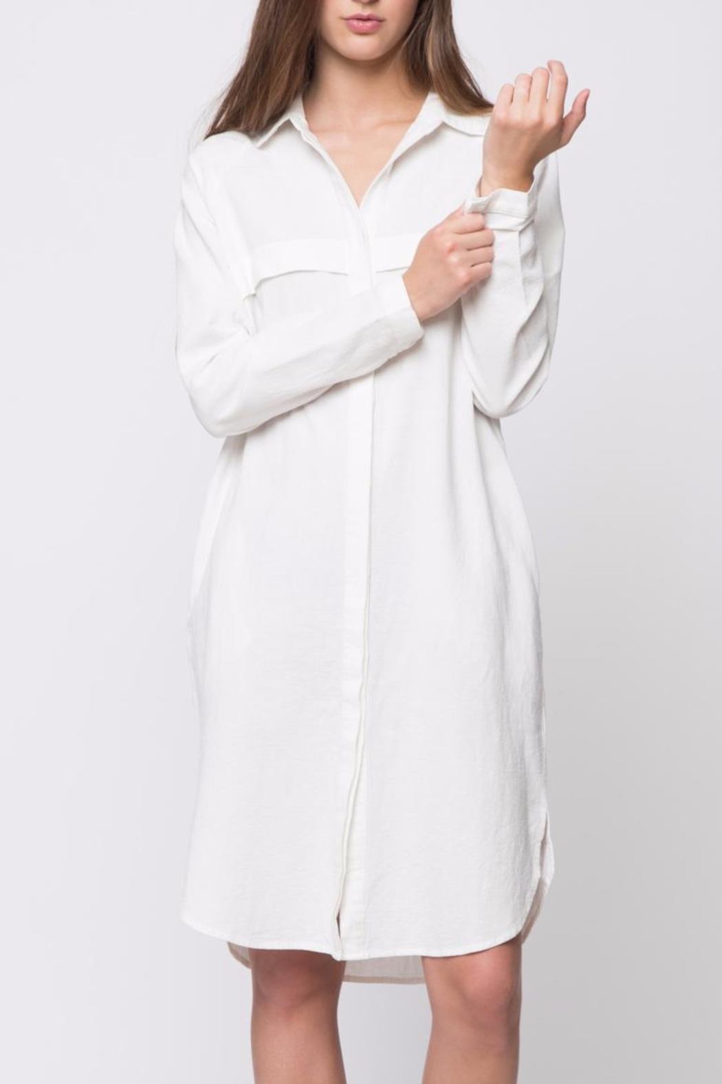 Movint Button Down Shirt Dress - Front Cropped Image