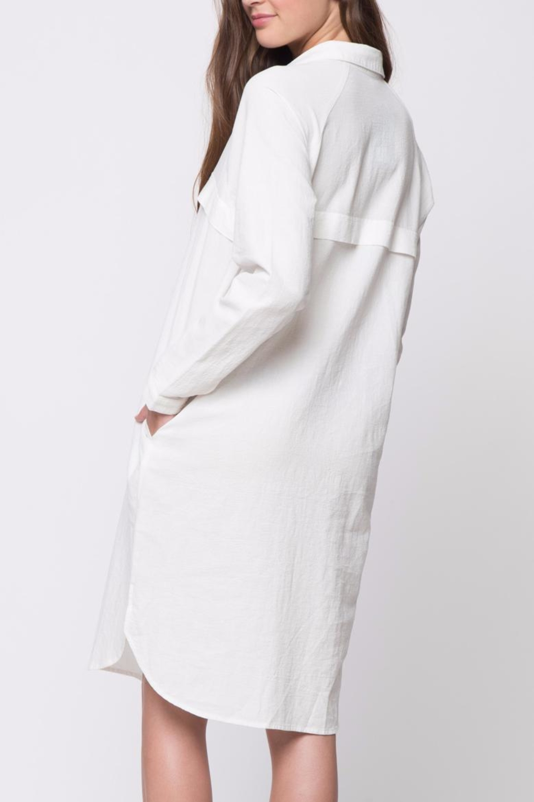 Movint Button Down Shirt Dress - Front Full Image