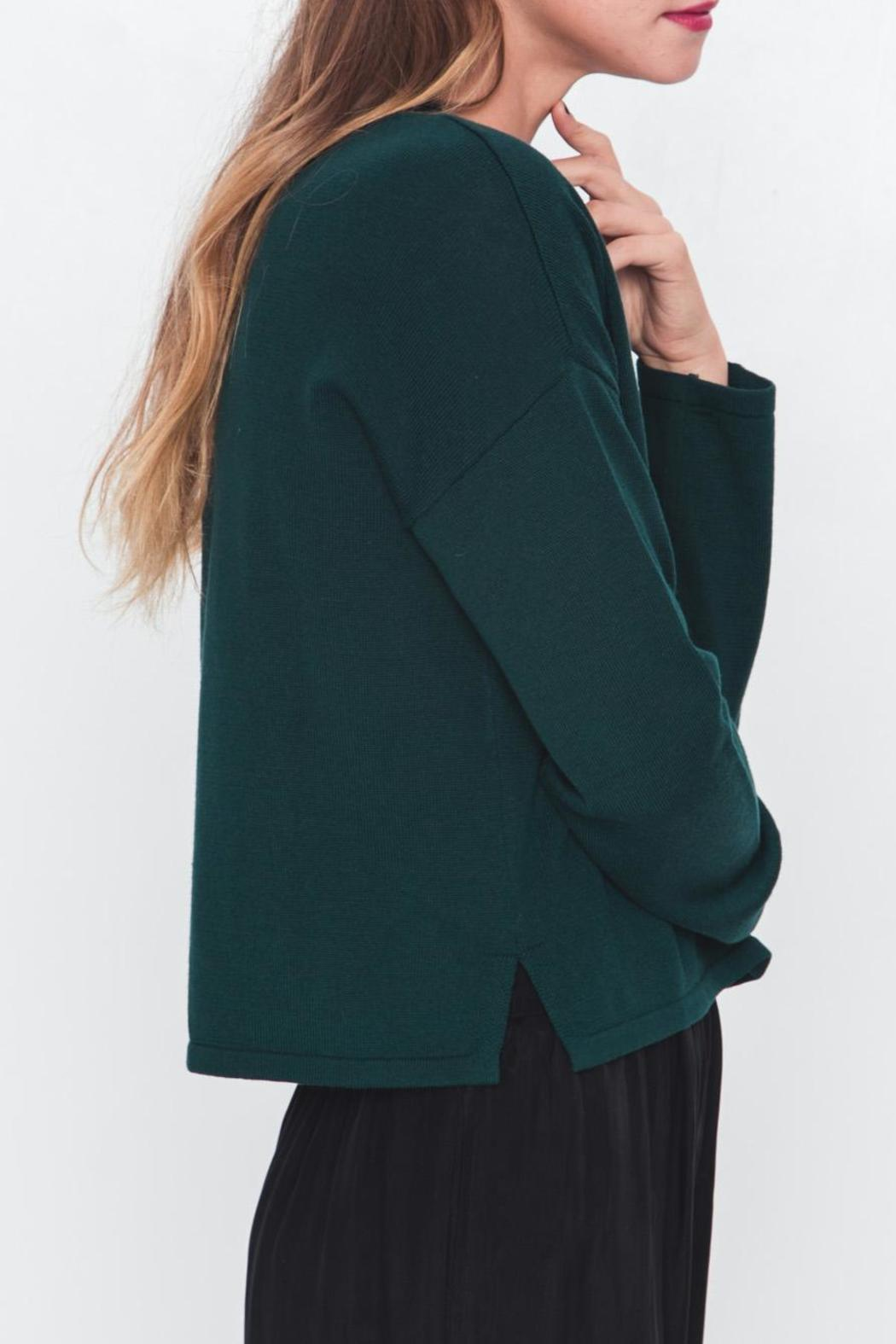 Movint Mock Neck Cropped Sweater - Side Cropped Image