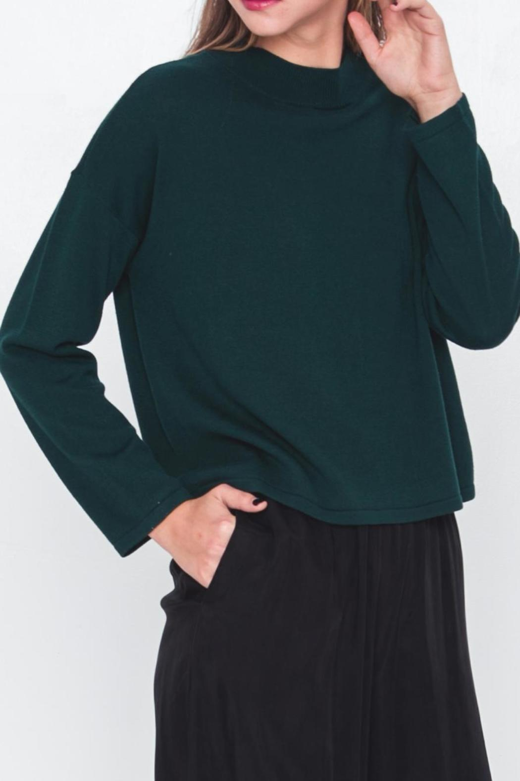 Movint Mock Neck Cropped Sweater - Front Full Image