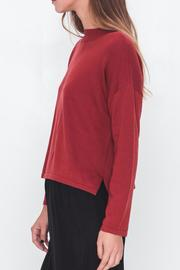 Movint Mock Neck Cropped Sweater - Front full body