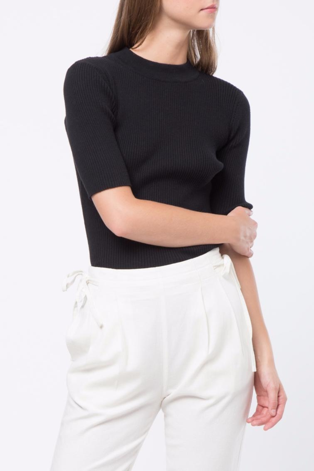 Movint Short Sleeve Sweater - Front Cropped Image