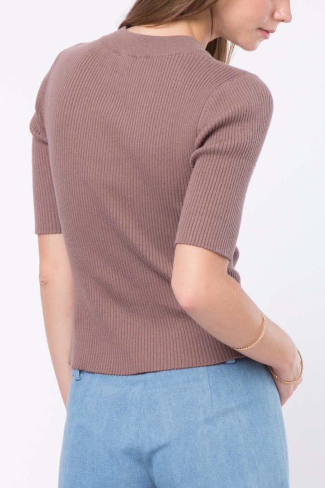 Movint Short Sleeve Sweater - Front Full Image