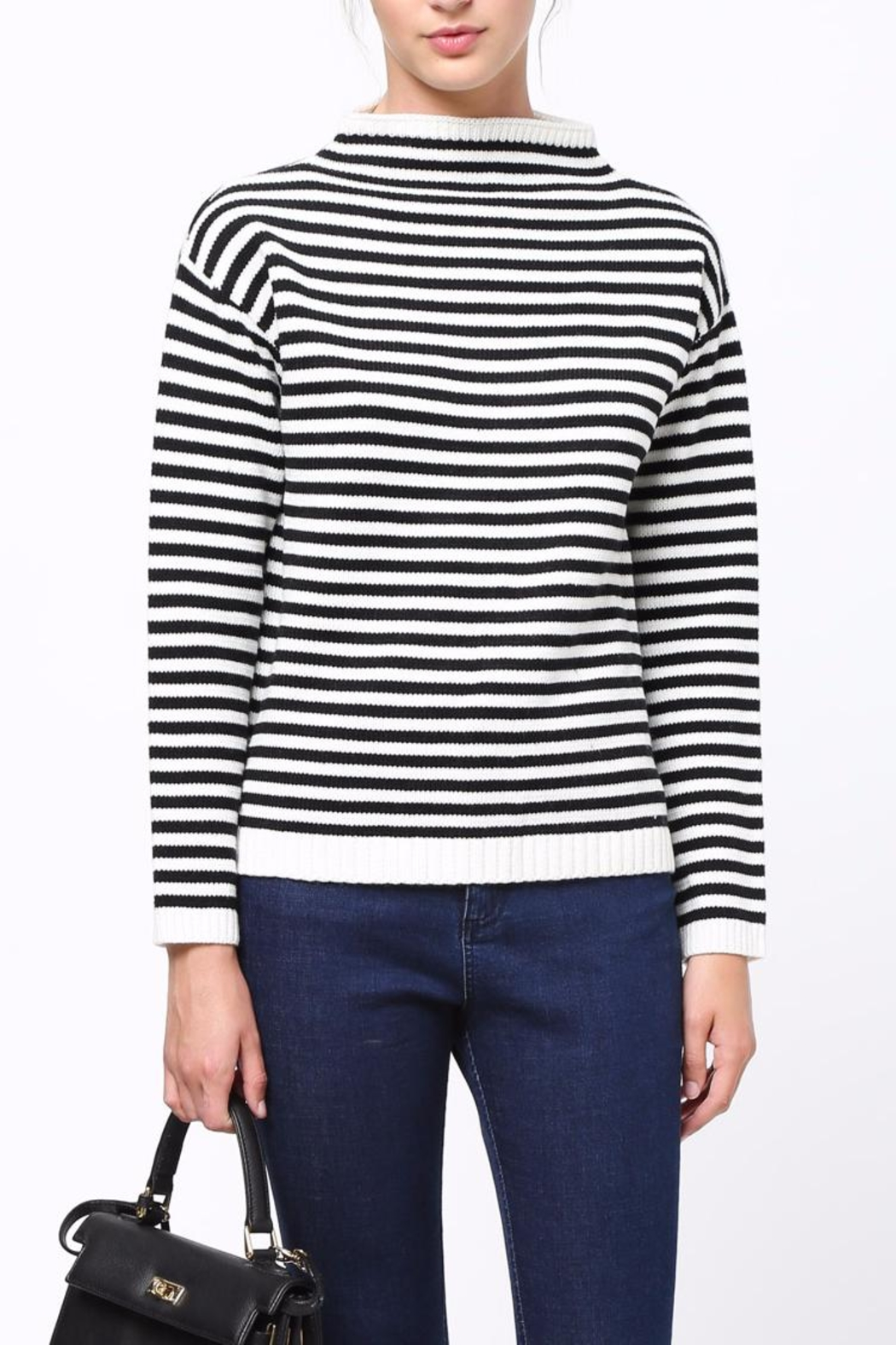 Movint Mock Neck Sweater - Front Cropped Image