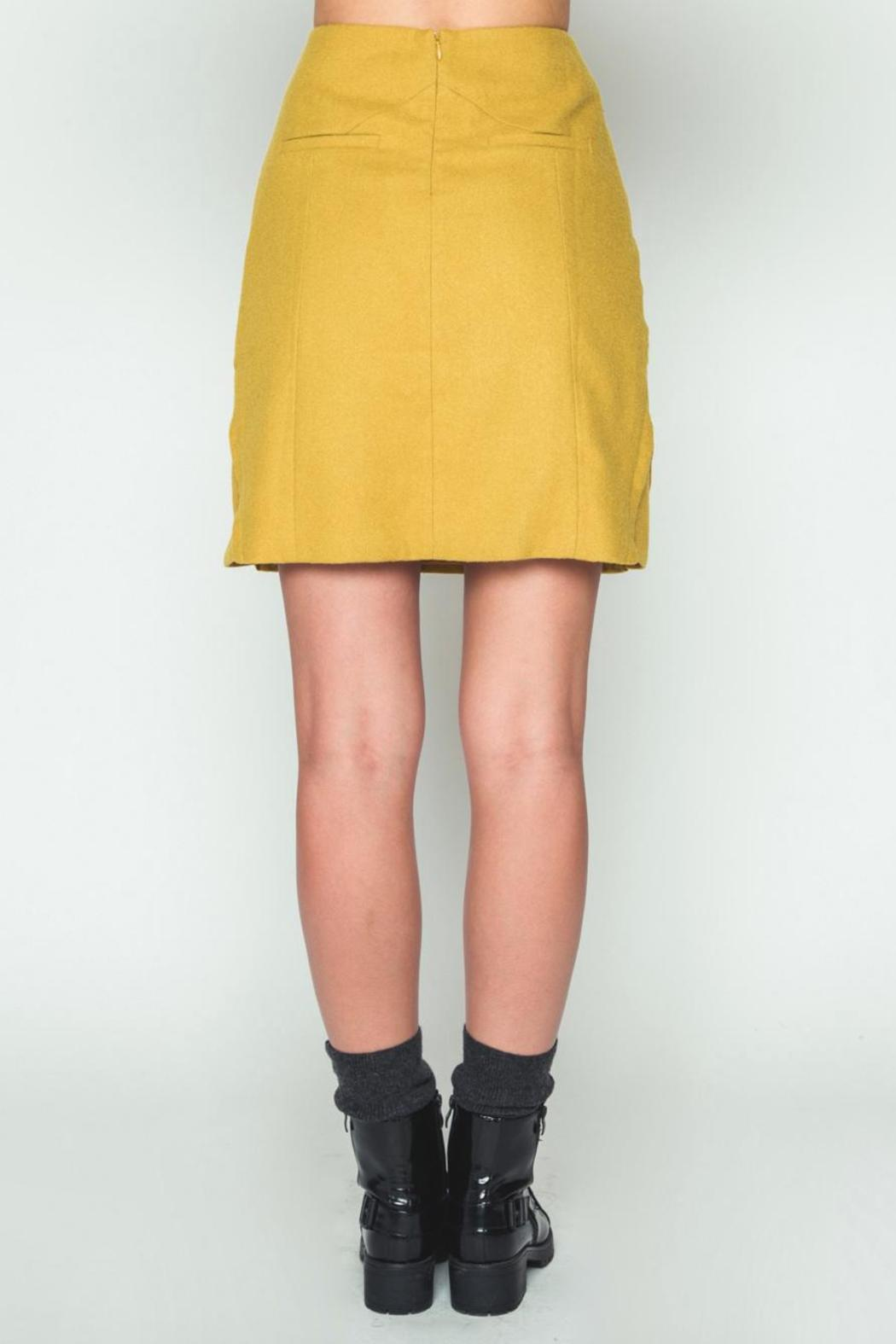 Movint Mustard H Line Skirt from SoHo by Mo:Vint — Shoptiques