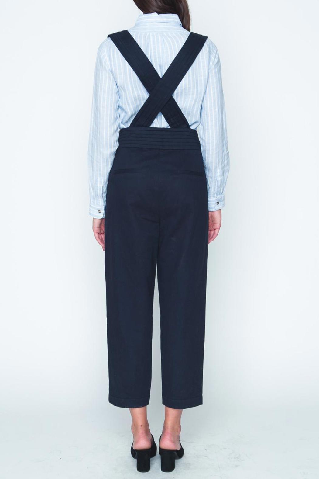 Movint Navy High Waist Overall - Side Cropped Image