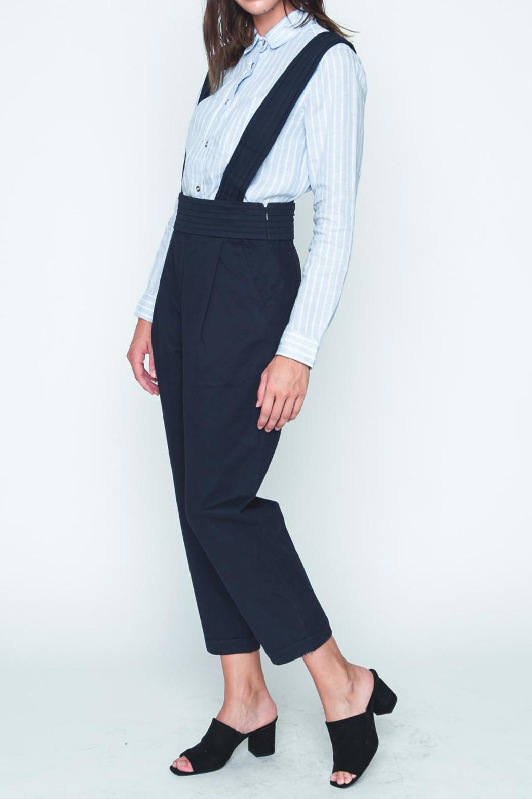 Movint Navy High Waist Overall - Front Full Image