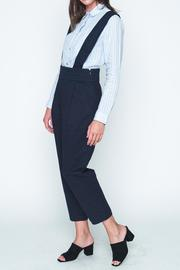 Movint Navy High Waist Overall - Front full body