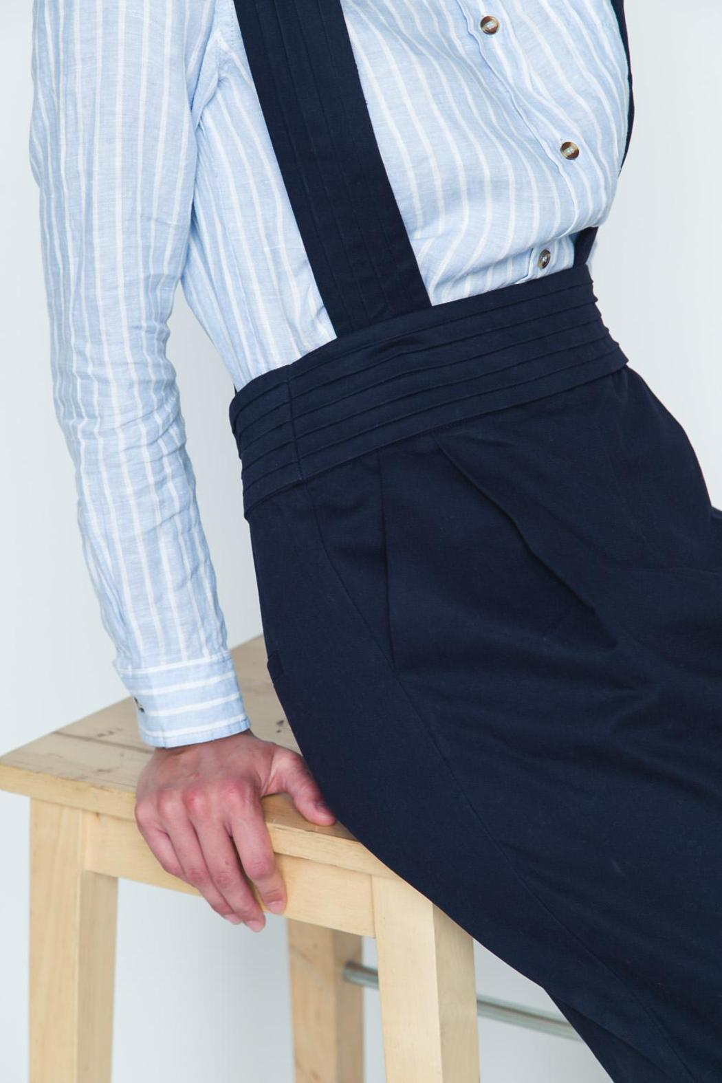 Movint Navy High Waist Overall - Back Cropped Image