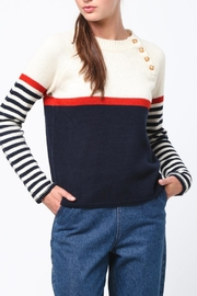 Movint Neck Button Sweater - Front full body