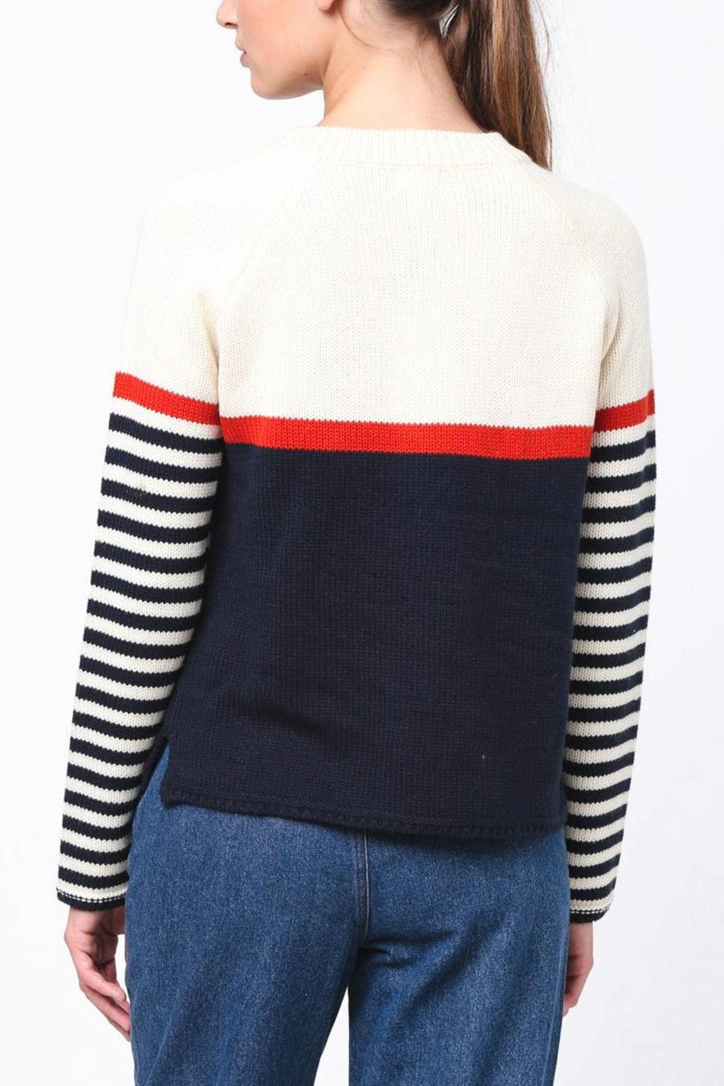 Movint Neck Button Sweater - Side Cropped Image