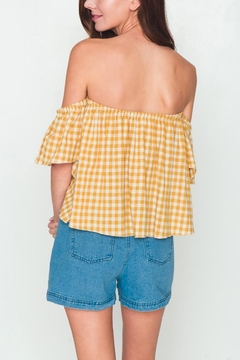 Movint Checkered Off Shoulder Top - Alternate List Image