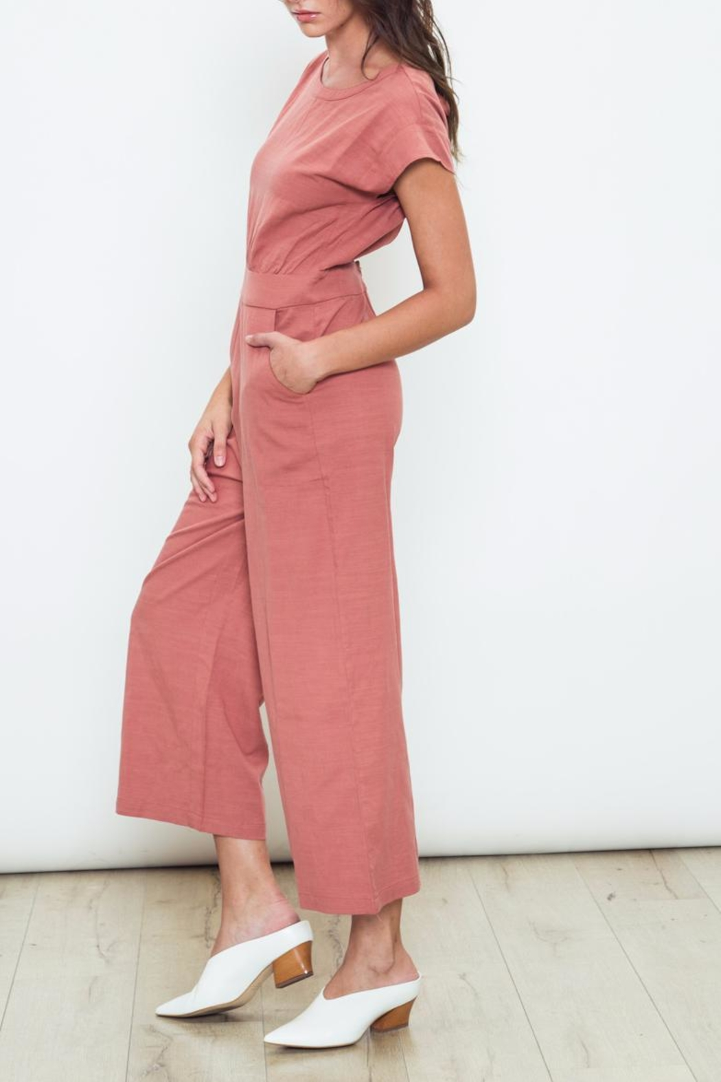 Movint Rosewood Open Back Jumpsuit - Front Full Image