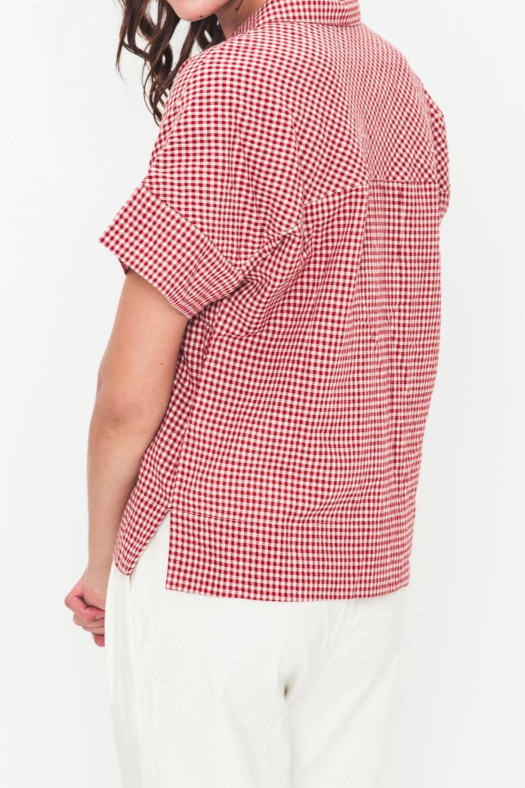 Movint Oversized Button-Down Shirt - Side Cropped Image