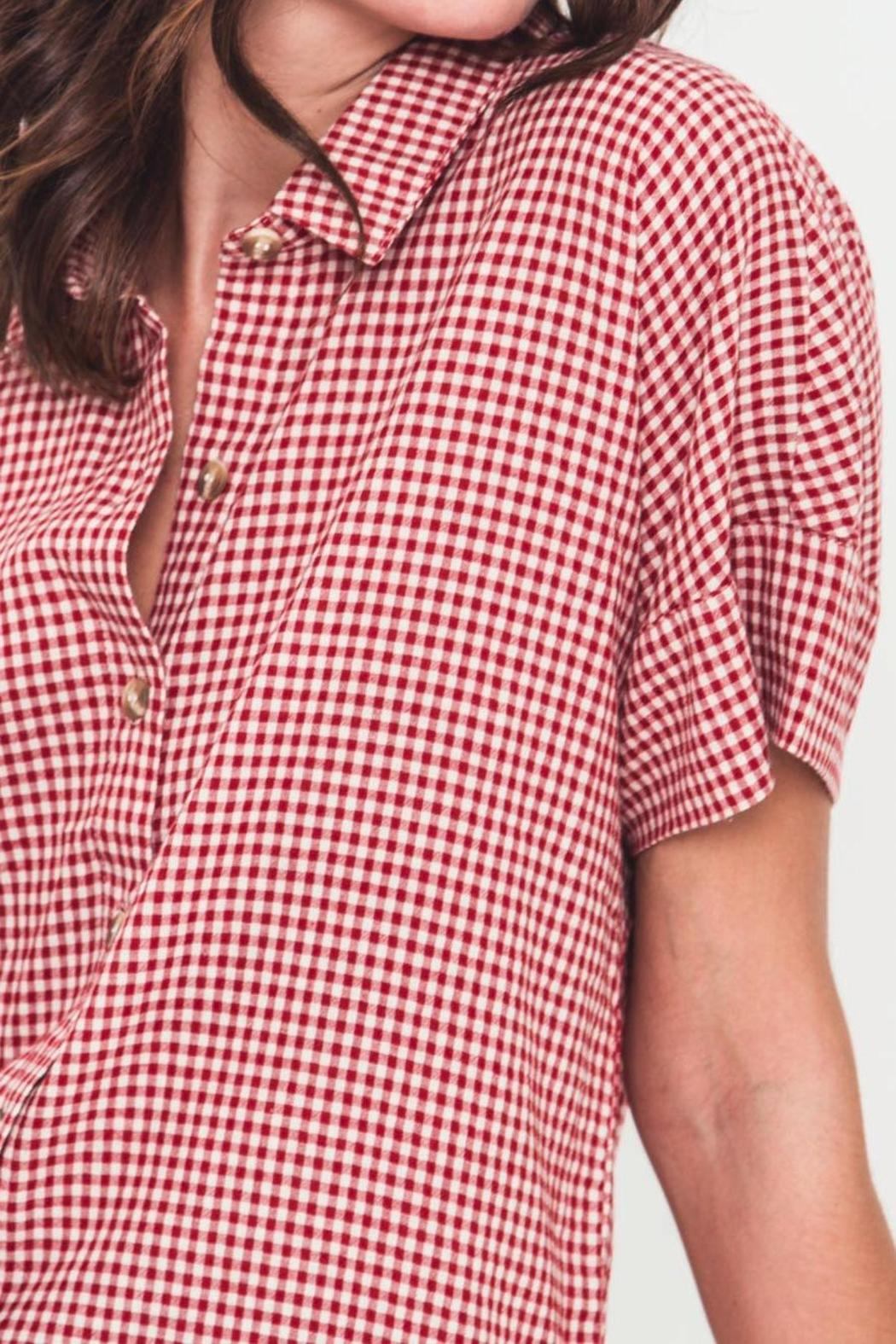 Movint Oversized Button-Down Shirt - Back Cropped Image