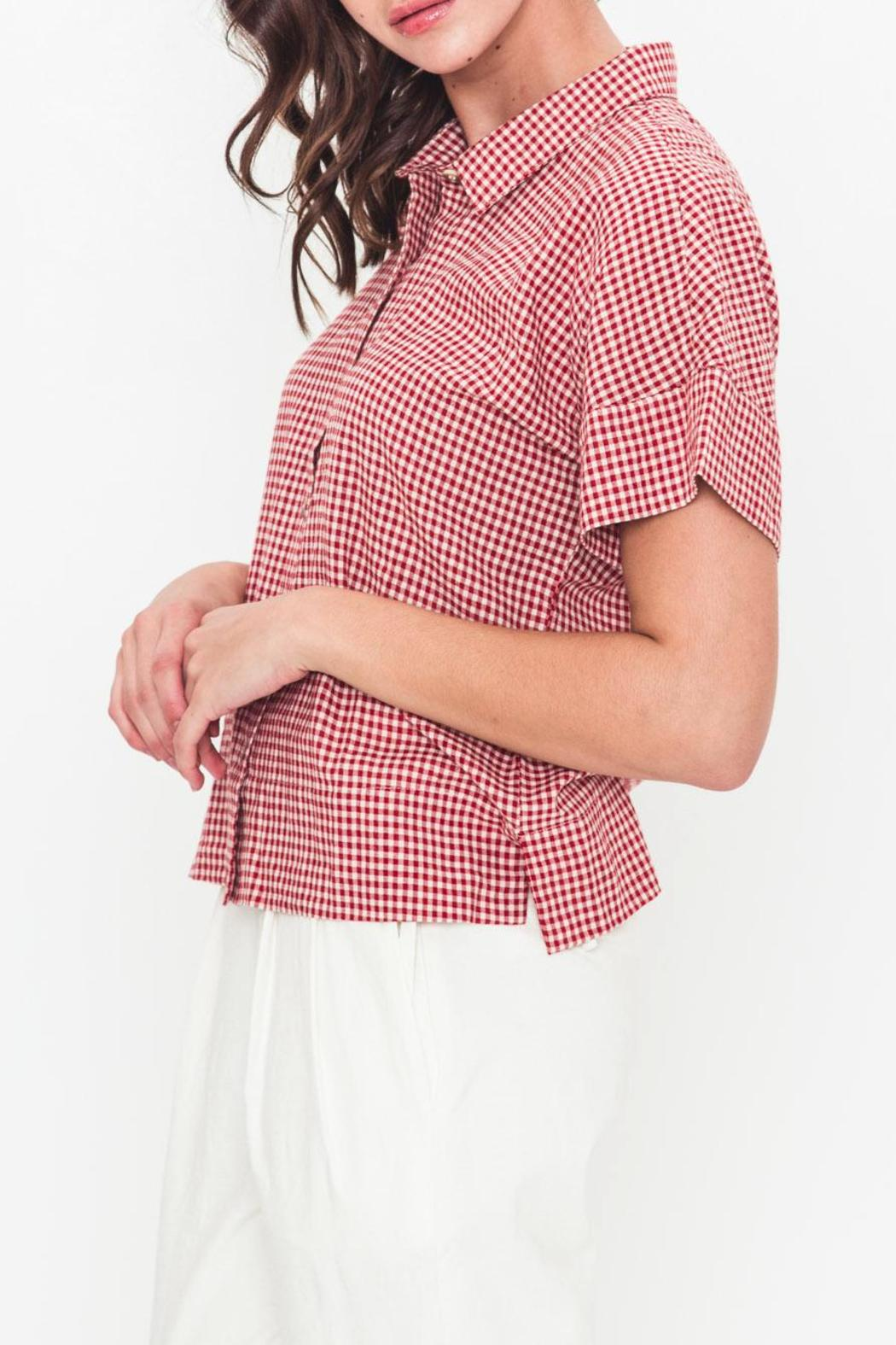 Movint Oversized Button-Down Shirt - Front Full Image