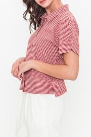 Movint Oversized Button-Down Shirt - Front full body