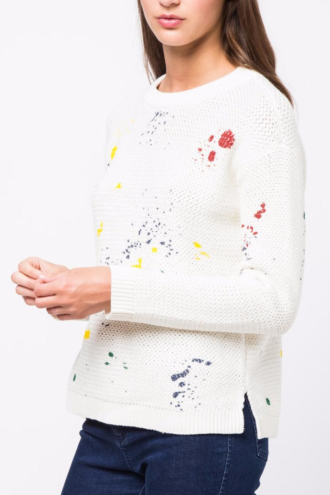 Movint Paint Splatter Sweater - Side Cropped Image