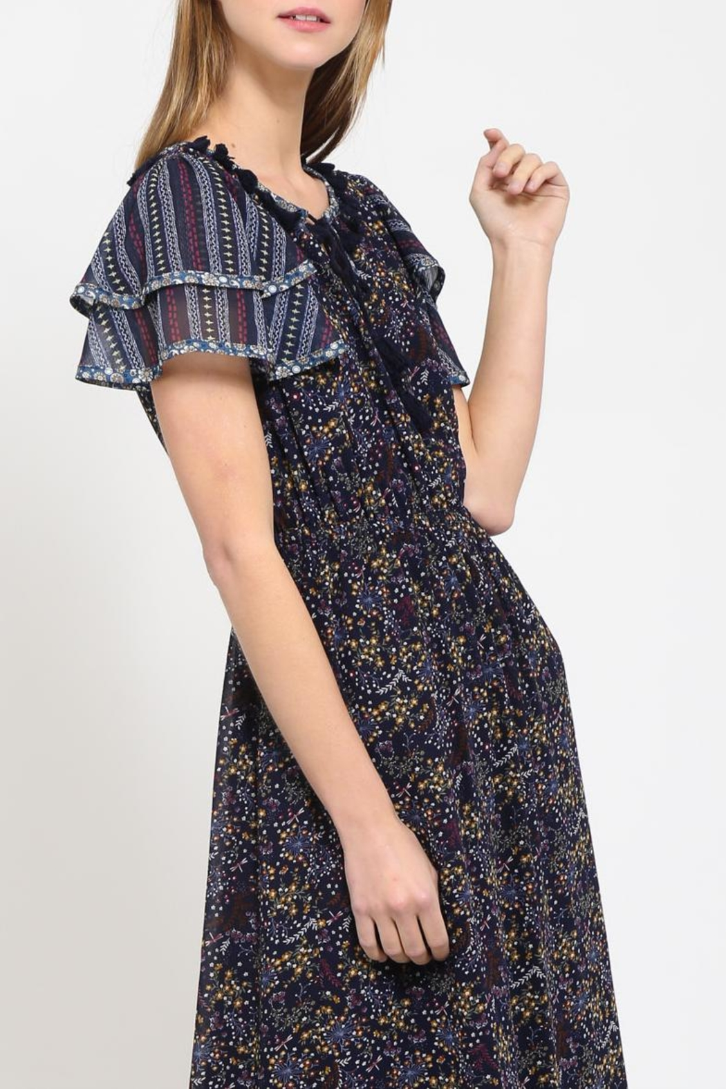 Movint Peasant Contrast Dress - Front Full Image