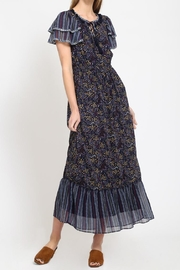 Movint Peasant Contrast Dress - Front cropped