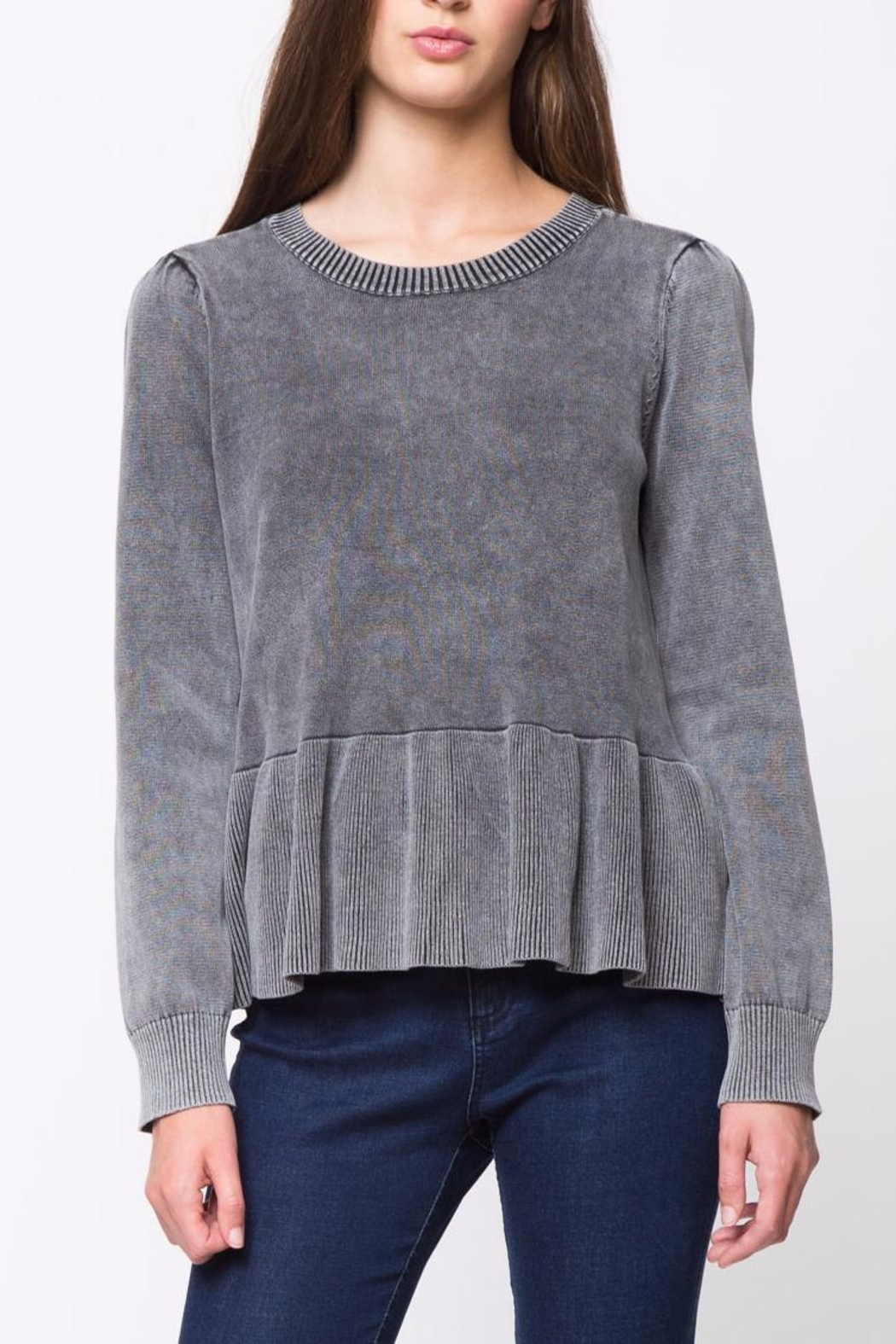 Movint Peplum Sweater - Front Cropped Image