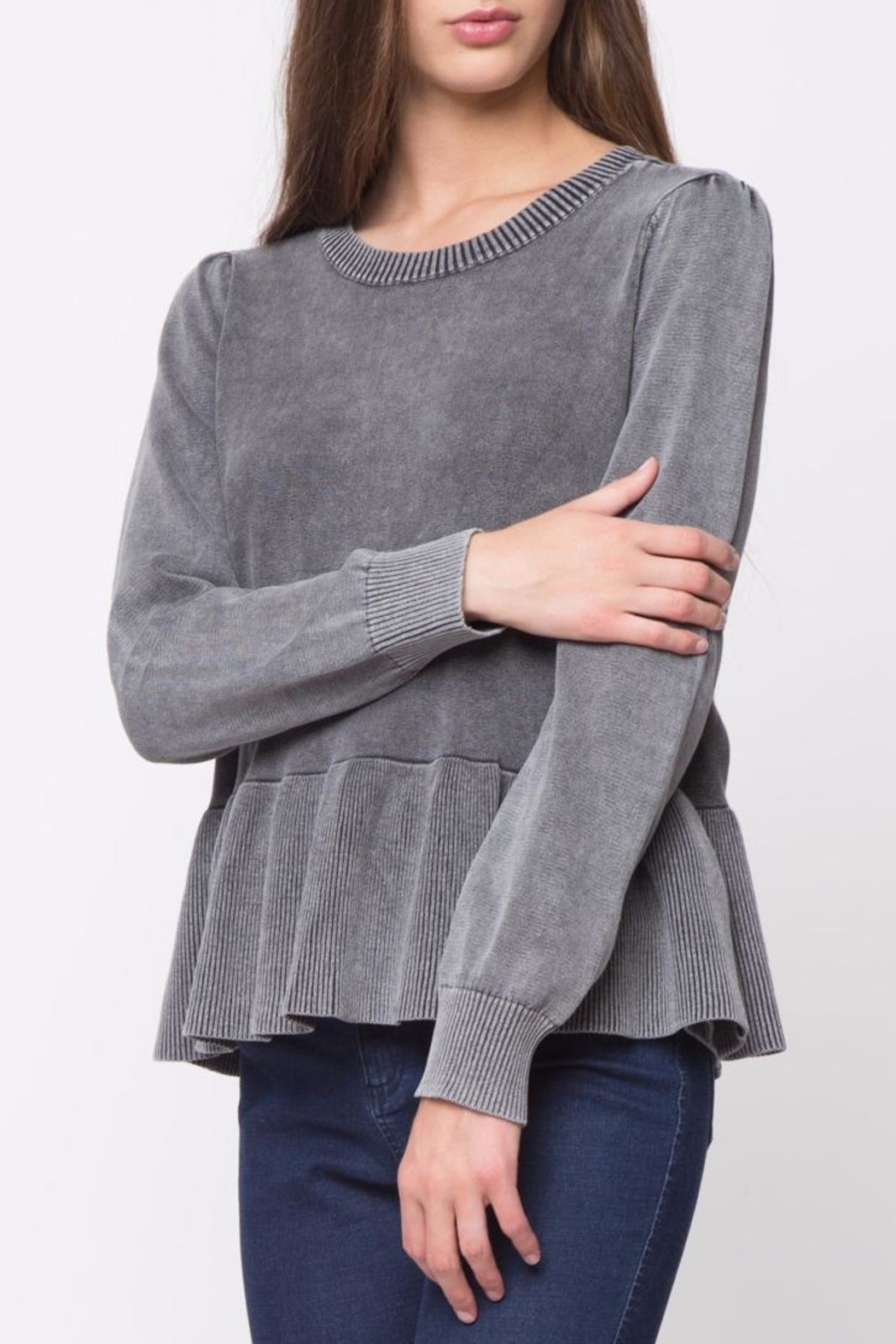 Movint Peplum Sweater - Side Cropped Image
