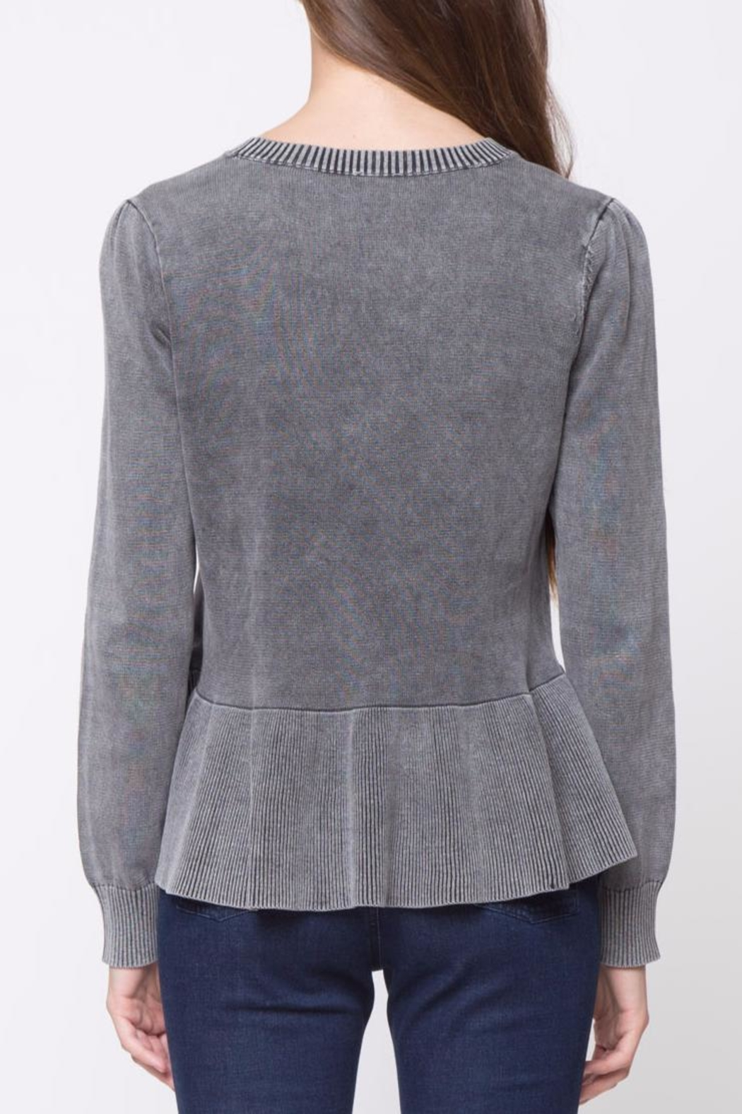 Movint Peplum Sweater - Front Full Image