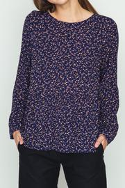 Movint Peplum Top In Ditsy Floral Print - Product Mini Image