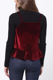 Movint Peplum Velvet Cami - Front full body