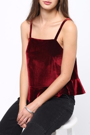 Movint Peplum Velvet Cami - Back cropped