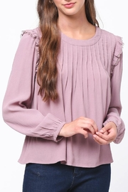 Movint Pintuck Ruffle Top - Front cropped