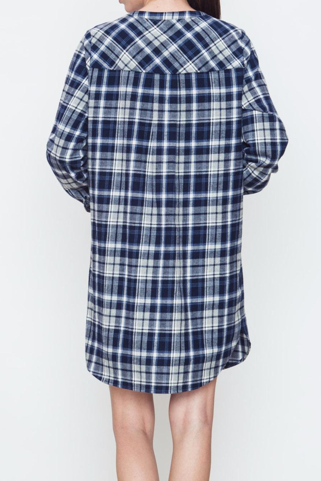 Movint Plaid Buttoned Dress - Side Cropped Image