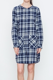 Movint Plaid Buttoned Dress - Product Mini Image