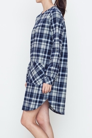 Movint Plaid Buttoned Dress - Front full body