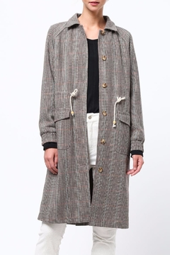 Shoptiques Product: Plaid Buttoned Topcoat