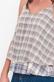 Movint Plaid Layered Top - Back cropped