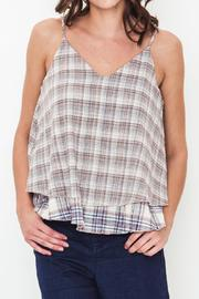 Movint Plaid Layered Top - Front cropped