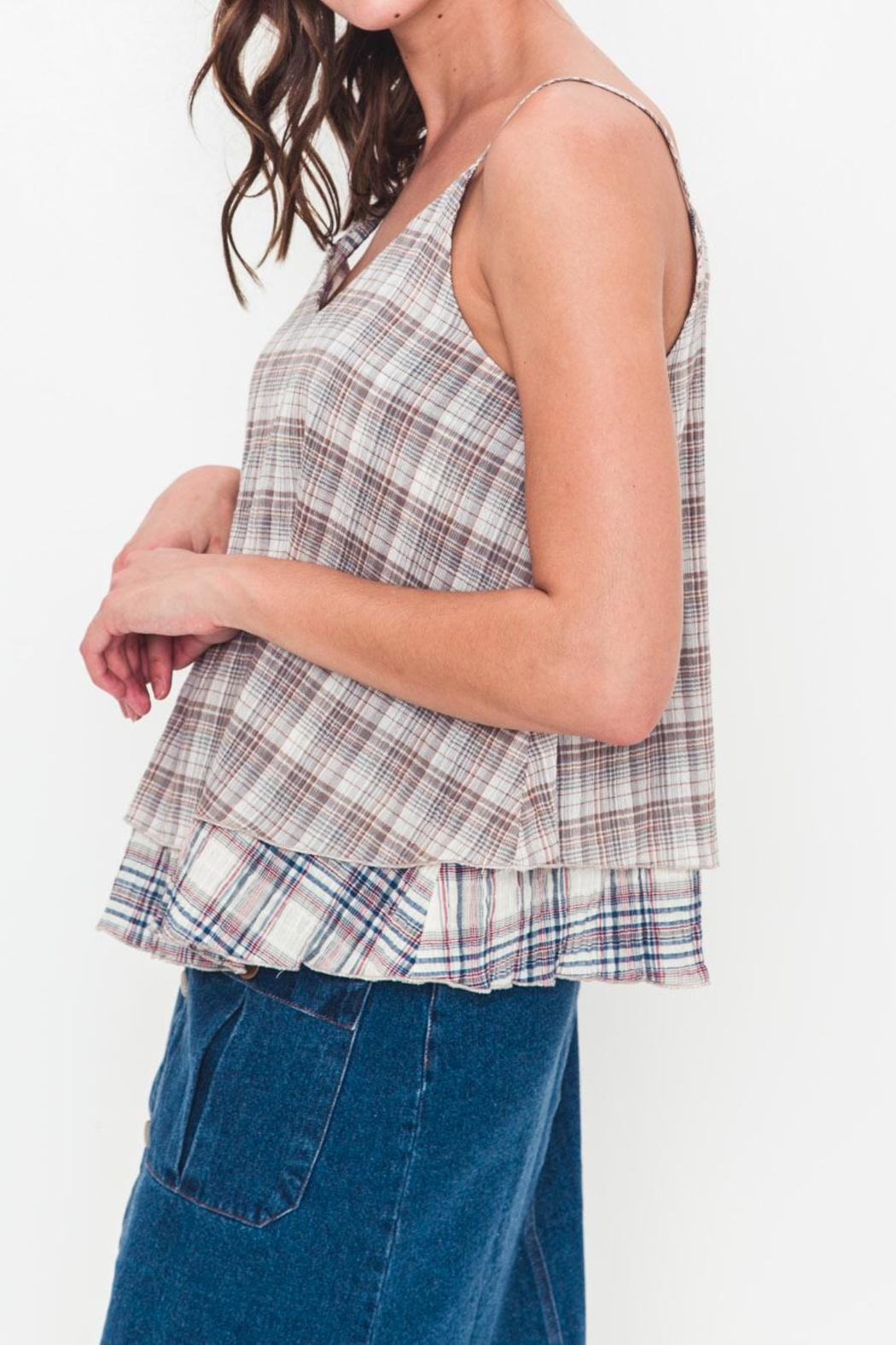 Movint Plaid Layered Top - Front Full Image