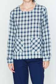 Movint Plaid Navy Shirt - Front cropped