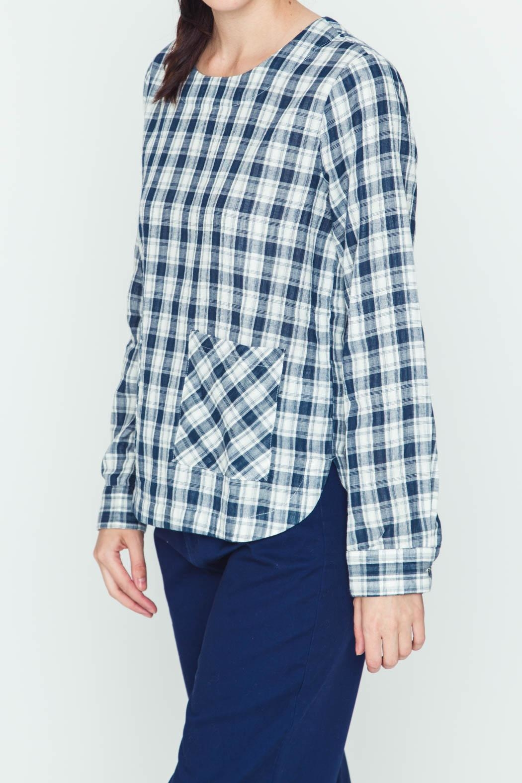 Movint Plaid Navy Shirt - Front Full Image