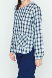 Movint Plaid Navy Shirt - Front full body