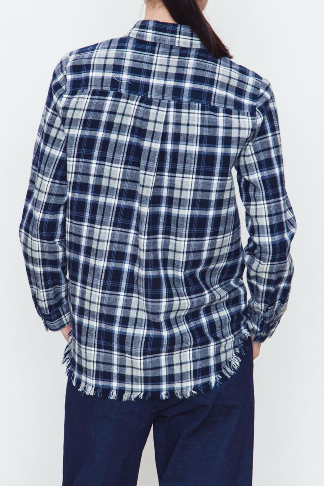 Movint Checkered Blue Plaid Shirt - Side Cropped Image