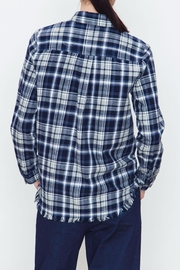 Movint Checkered Blue Plaid Shirt - Side cropped