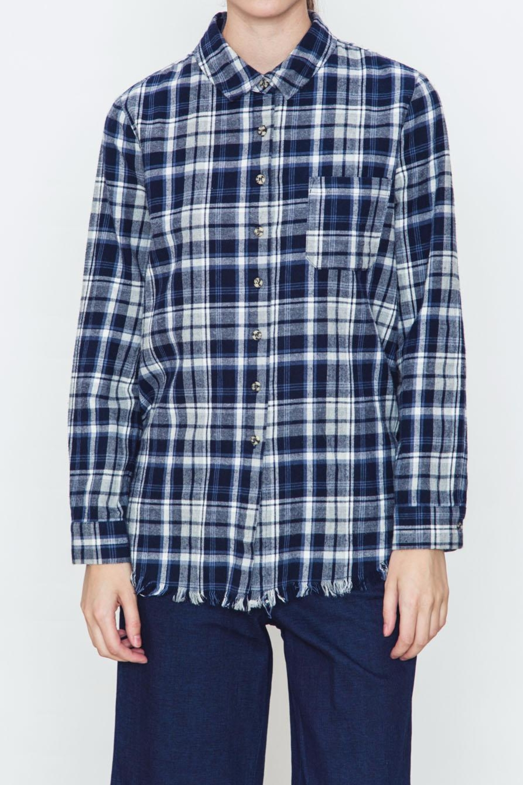 Movint Checkered Blue Plaid Shirt - Main Image