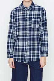 Movint Checkered Blue Plaid Shirt - Front cropped